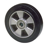 Thumbnail 160mm Rubber Tyred Wheel with Ball bearing