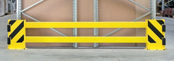 Adj Racking End Frame Protectors - Bases c/w Rollers
