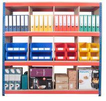 Rivet Divider Shelf System c/w 4 Levels and Dividers