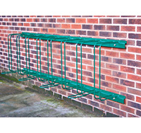 Wall Mounted Cycle Shelter for 8 Bikes  Dark Green