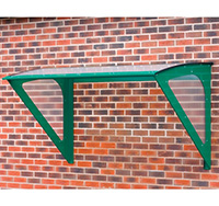 Small Wall Mounted Smoking Shelter for 3 people