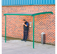 Large Wall Mounted Smoking Shelter for 8 people