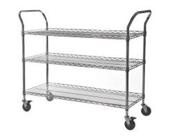 Chrome Wire Lipped Trolley