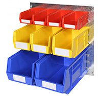 Plastic Storage Bin Wall Kit E