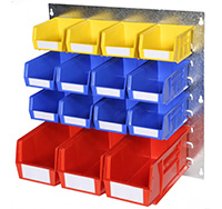 Plastic Storage Bin Wall Kit F