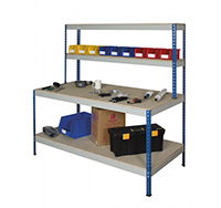 Medium Duty Full Undershelf Rivet Workstation